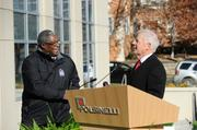 Kansas City Mayor Sly James congratulated Polsinelli chairman Russ Welsh for tackling a project that improves the Plaza community.
