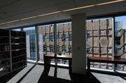 Polsinelli's new headquarters includes a quiet law library equipped with work stations.