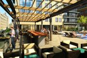 A fifth-floor rooftop deck is one of many tenant amenities planned in the Nic on Fifth.