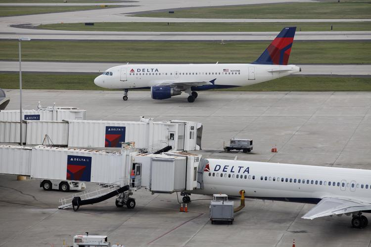 Delta Air Lines Inc. will lay off 741 workers at the Detroit Metropolitan Wayne County Airport in April.