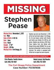A longtime friend of missing Roseville restaurant owner Steve Pease said his dropping out of contact and sight more than a week ago is completely out of character.