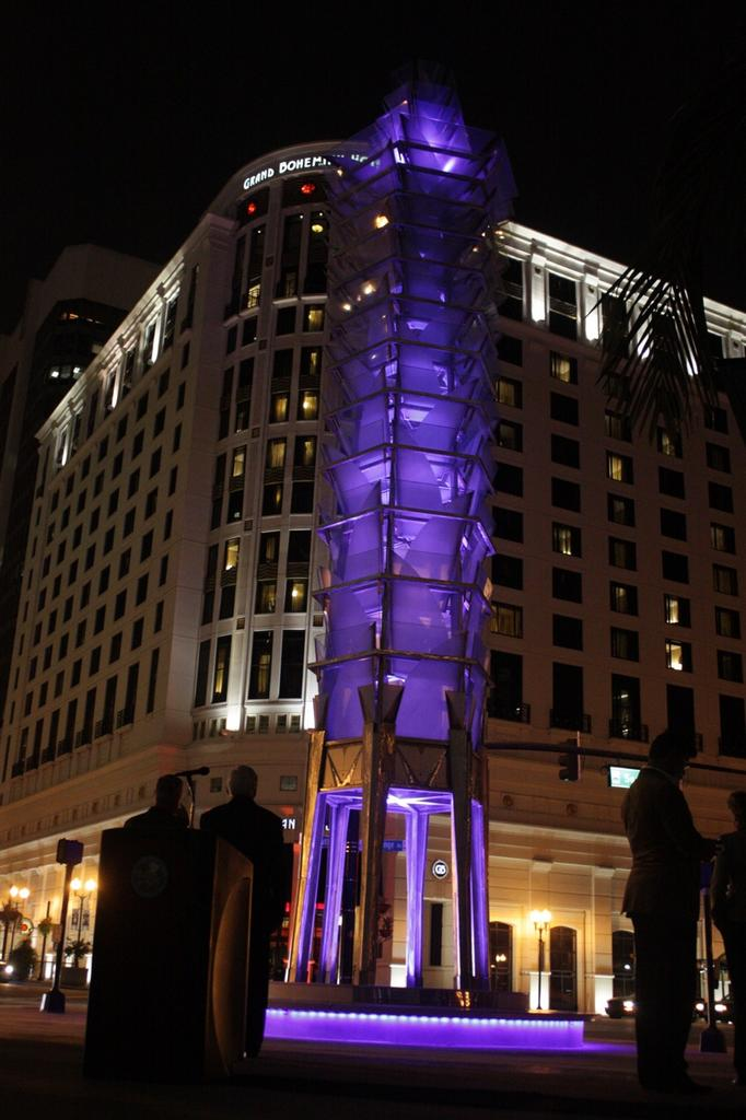 The Tower of Light was officially lit during the illumination ceremony on Nov. 12.