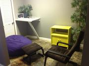 Here's a little nook where people can make phone calls at CoLab.