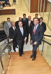 City National Bank President and CEO Jorge Gonzalez with members of the executive team.