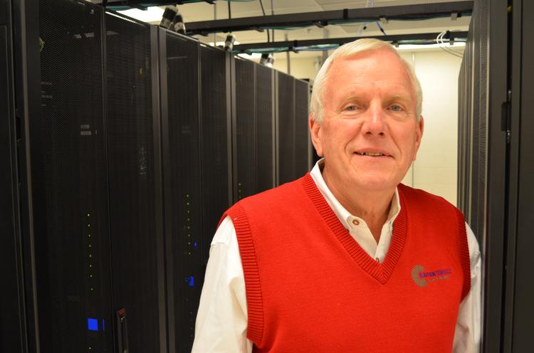 Pete Clune, CEO of Cavern Technologies, is pictured in one of the data suites in its underground data center at Meritex Lenexa Executive Park.