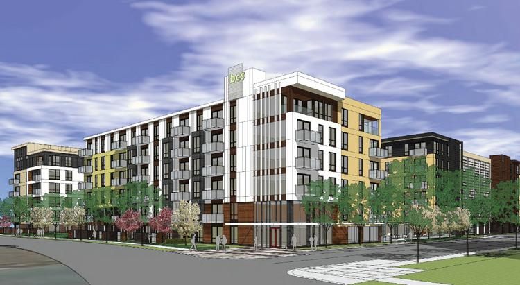 Lennar Multifamily's proposed 415-unit development near the Mall of America in Bloomington.