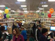 The opening-day crowd at Sprouts' Katy location, 23105 Cinco Ranch Blvd.
