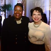 Erica Qualls, GM of the Marriott Marques, and Nancy Oswald, ACVB chair of the board.