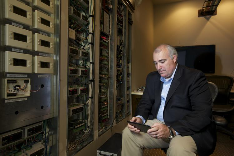 Gary Fish, the founder and CEO of FishNet Security Inc., has a server room at his home and can control the environment in any room with a computer pad. With his retirement, Fish will have more time to devote to DomoTek, a company he started that provides home automation services.