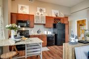 Soo Line Building City Apartments kitchen finishes include track lighting, stainless steel backsplashes, glass accent doors, built-in wine racks, pot racks, pantries and stainless steel hardware.