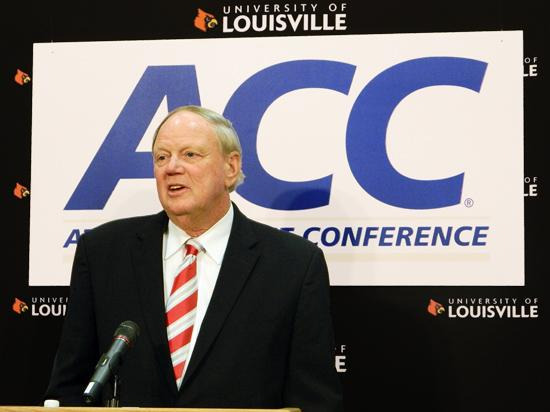 U of L president James Ramsey talked last year about the school's planned move to the ACC.
