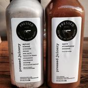 A pair of exciting pressed juices