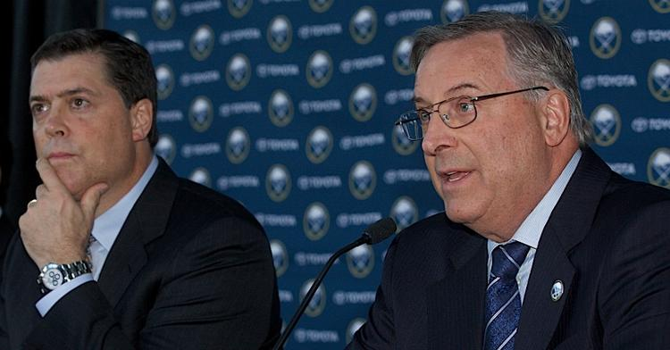Owner Terry Pegula, right, has turned to Pat LaFontaine to reverse his team's fortunes.