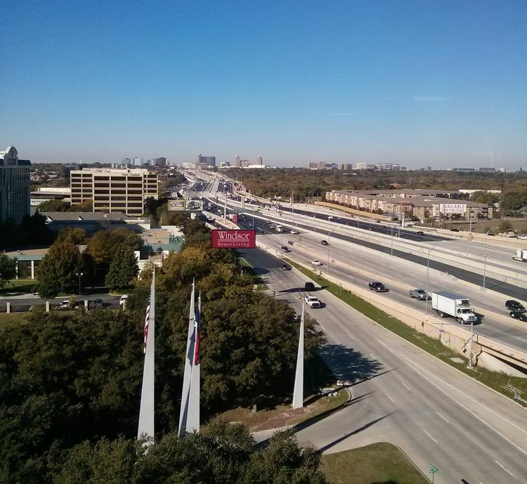 A westward look at the LBJ Express where new TEXPress lanes will open Dec. 14.