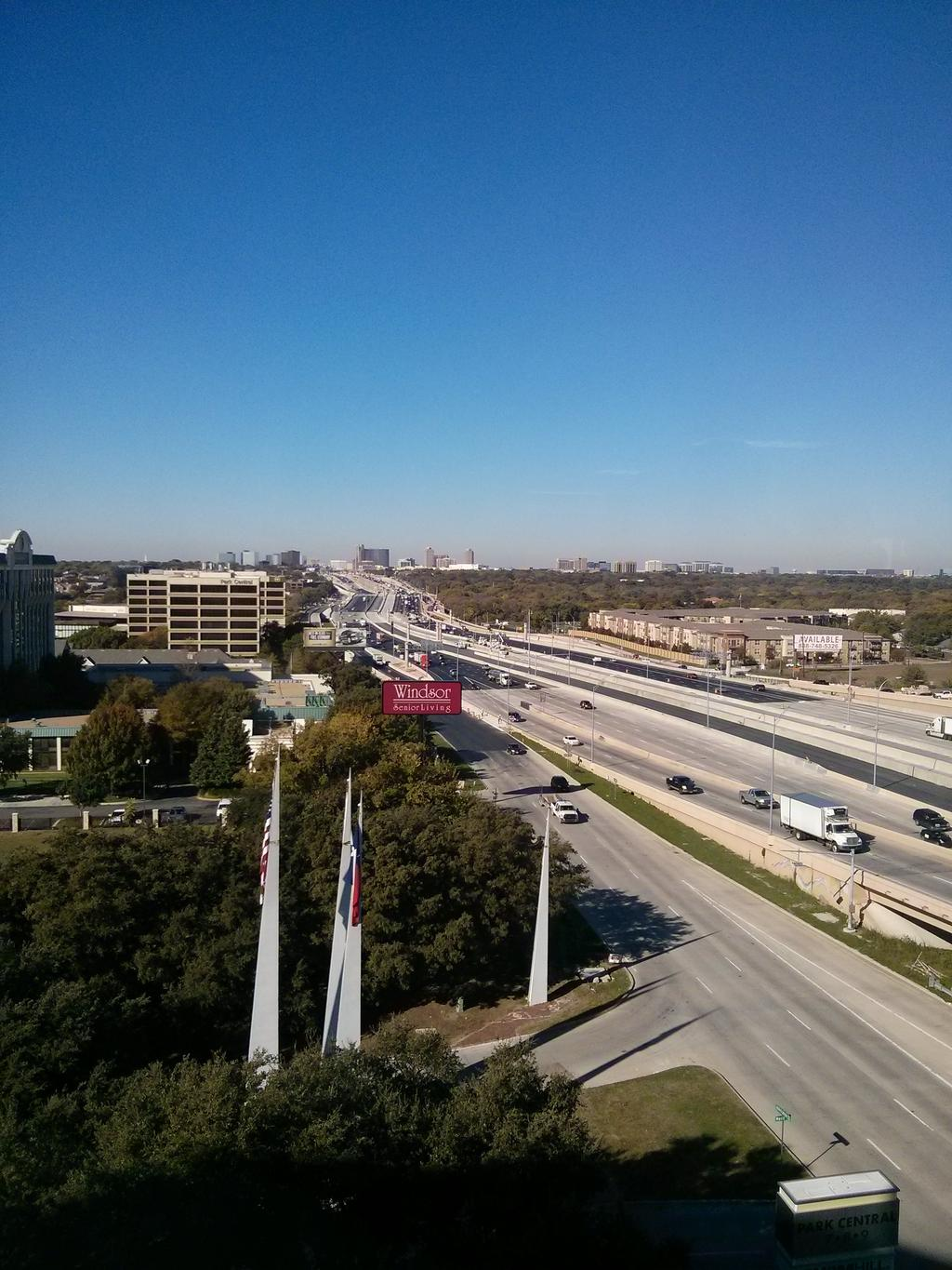 e3fb237d788 A westward look at the LBJ Express where new TEXPress lanes opened Saturday.