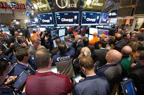 Chegg shares dropped as much as 22 percent in their first day of trading on the New York Stock Exchange.