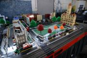 A model of St. Paul's Rice Park built by the Twin Cities Lego Train Club is a permanent attraction at the Brickmania warehouse. Mickey's Diner and the Minnehaha Depot will be added to the model this year.