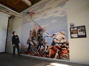This mural of Iwo Jima was made from more than 150,000 Legos by 100 people in one weekend.