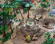 A close-up of the of the Battle of Peleliu display