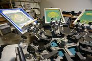 Brickmania also has a screen-printing space to quickly make t-shirts to market the company at events.