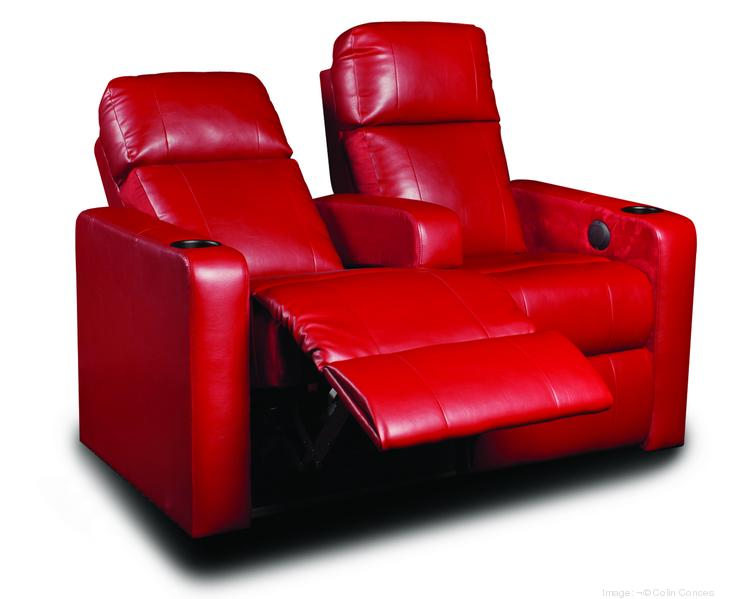 The DreamLounger reclining seat being introduced at three Marcus Theatres cinemas in the coming week.