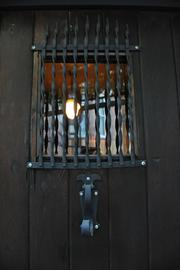 The original stable doors still mark the entryway to the dining room.