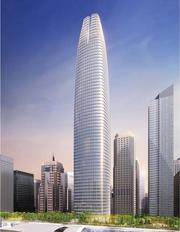 Or will crown of the Transbay Tower sport Google's colors?