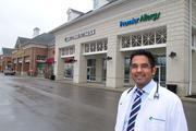 Dr. Summit Shah moved his Premier Allergy practice to a shopping center in Westerville after patients requested better access.