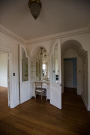 A built in vanity was created for the lady of the house.