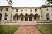 An elegant row of arches characterizes the south side of the estate.