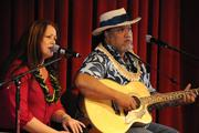 Entertainers Amy Hanaialii Gilliom and Willie K performed at the bill signing ceremony for Senate Bill 1, which legalizes same-sex marriage in Hawaii.