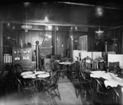 The dining room in 1924.