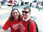 """CBJ Seen: NASCAR fans visited the American Diabetes Association's Drive to Stop Diabetes pavilion at Charlotte Motor Speedway last month to meet driver Ryan Reed, who has type 1 diabetes and founded the D2SD public awareness program. Pictured are Lawton Hatley, chair of the Charlotte ADA's Leadership Council, and his wife, Kate McClain. Want to see your events featured? Send photos and captions in an email to aangel@bizjournals.com, with """"CBJ Seen"""" in the subject line."""