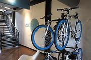 Take a quick spin: Employees at Dotloop's downtown Cincinnati office  can grab a loaner bike to run errands or pick up lunch.