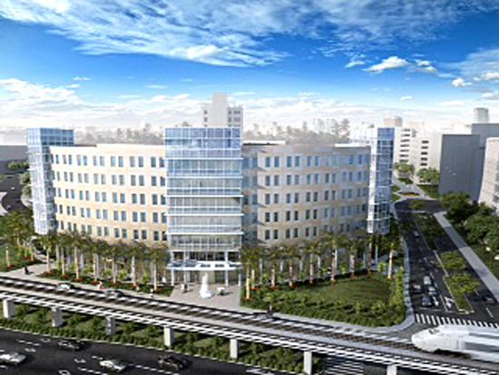 A rendering of the Jackson rehabilitation hospital.