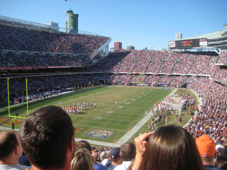 Soldier Field, home of the Chicago Bears.