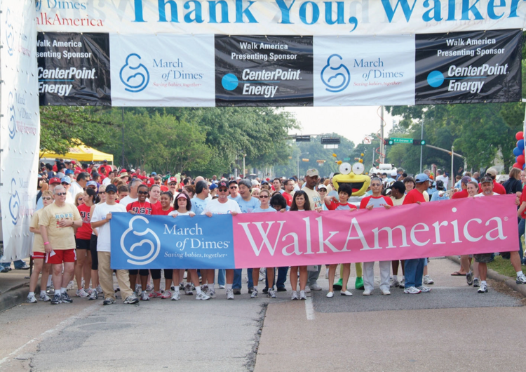 CenterPoint Energy employees participating in March of Dimes Walk America.  Click through the slideshow for more images of CenterPoint's community involvement.