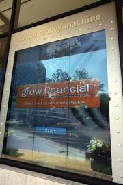 Grow Financial in downtown Tampa. A virtual money machine outside the bank.