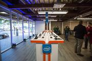 The view inside the pop-up Dell Store at 506 S. Congress Ave, which opened on Thursday, ahead of the 2013 Circuit of The Americas Formula 1 Race in Austin.