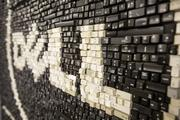 The Dell logo is rendered by thousands of keyboard keys inside the Dell pop-up store on S. Congress in downtown Austin. The store will be open until Dec. 13, 2013.