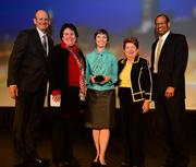 A.J. Robinson, president of CAP; Alicia Phillip; Ann Cramer, who received the Dan Sweat Award; Tally Sweat; and Egbert Perry.