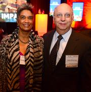 Camile Love, with the Atlanta Department of Parks, Recreation and Cultural Affairs, and Arnie Silverman, president of Silverman Construction.