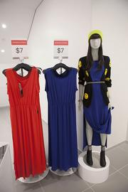 The women's section included a number of dresses.
