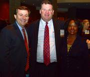 William Pate, president of ACVB; Tad Hutcheson, vice president of community and public affairs at Delta Air Lines Inc.; and Pat Upshaw Monteith, president and CEO at Leadership Atlanta.