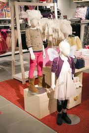 Children's apparel is available at the store.