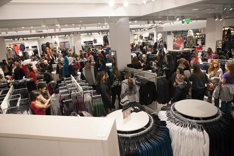 The new H&M store at Oxmoor Center reached its capacity shortly after opening at noon.
