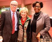 Rich McKay, president and CEO of the Atlanta Falcons; Penny McPhee, president of the Arthur M. Blank Family Foundation; and Lisa Gordon with the Atlanta Beltline.
