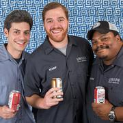 Jon Zerivitz, 34, Adam Benesch, 36, and Kevin Blodger , 37, are the co-founders of Union Craft Brewing Co.