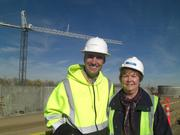 John Kuosman, the operations and maintenance director for the new treatment plant that Metro Wastewater Reclamation District is building north of Brighton, with Barbara Biggs, the district's governmental affairs officer.