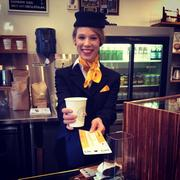 The finale of the Lufthansa flight attendants' upgrade promotion comes Sunday at Soldier Field.